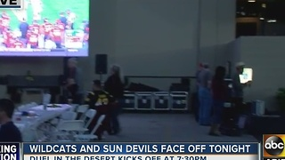 Watch party in Tempe as ASU, UA football game set to begin - Video