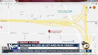 Woman killed in Santee hit-and-run