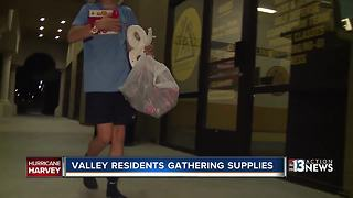 Valley residents gathering supplies for victim's of Harvey - Video