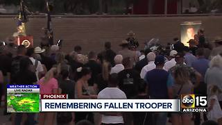 Hundreds attend vigil honoring fallen DPS trooper - Video
