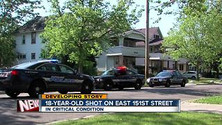 Police: Man, 18, shot in chest in Cleveland - Video