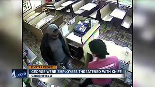 VIDEO: Armed robber caught on camera at Greenfield George Webb - Video