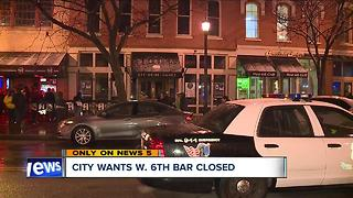 Cleveland wants warehouse district bar closed - Video