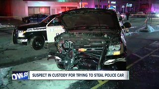 Police: person in custody after stealing, crashing Buffalo police vehicle
