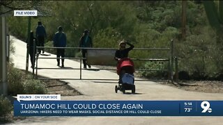 Tumamoc hikers warned that hill could shut down again if they don't wear masks
