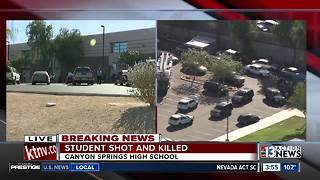 Shooting at Canyon Springs High School in North Las Vegas - Video