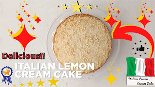 How to make Italian lemon cream cake