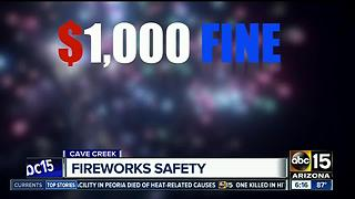 Firefighters reminding Arizonans about the importance of fireworks safety - Video