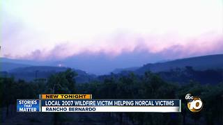Local 2007 wildfire victim helping NorCal fire victims - Video