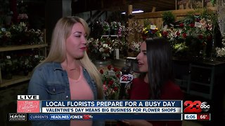 Florists Prepare for Valentines Day