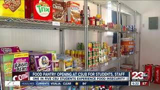Food Pantry opening at CSUB for students and staff - Video