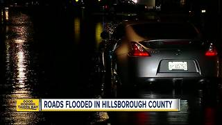 Roads flooded in Hillsborough County - Video