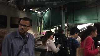 Dramatic Footage Shows Chaotic Scene Inside Hoboken Station After Train Crash - Video