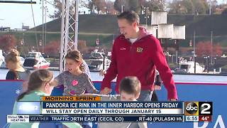 Pandora Ice Rink at Inner Harbor opens Friday - Video