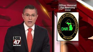 DNR officer honored for winter rescue in Upper Peninsula - Video