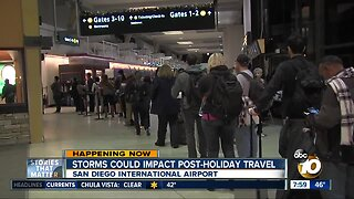 Storms could impact post-holiday travel