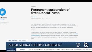 Social media and the First Amendment