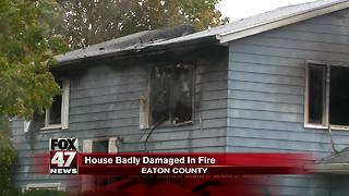 Grand Ledge house fire is under investigation - Video