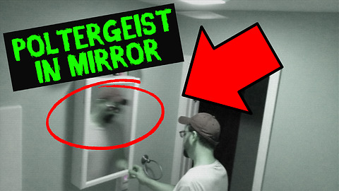 Security camera captures poltergeist in mirror