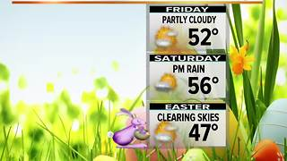 Wet Thursday. Cool Easter Weekend - Video