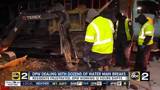 Water main breaks continue to affect city, county - Video