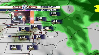 Clouds return with milder temps