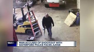 Man accused of shootout with Waterford Police faces judge - Video