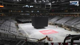 New Bucks arena is beginning to take shape - Video