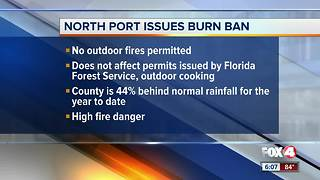 North Port burn ban