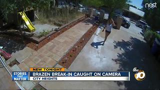 Brazen burglary caught on camera in City Heights - Video