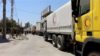 Aid Arrives to Opposition-Held Cities of East Damascus - Video