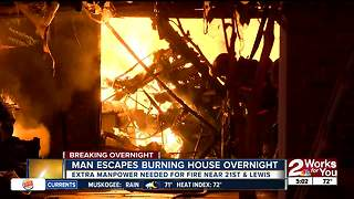 Tulsa midtown home damaged by fire overnight