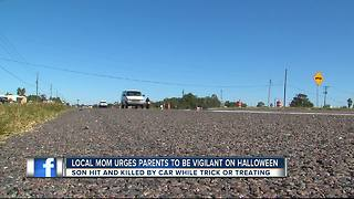 Polk County mother warns parents of Halloween traffic safety - Video