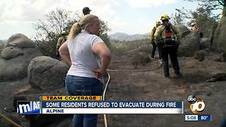 Some residents refused to evacuate during fire - Video