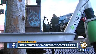 San Diego Police cracking down on scooter riders