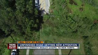 Unfinished road getting new attention - Video