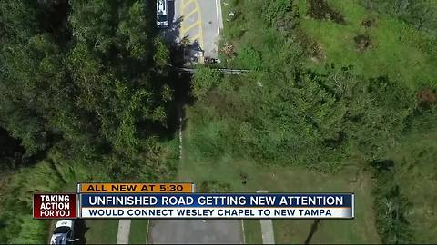 Unfinished road getting new attention