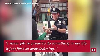 Starbucks Manager Goes Extra Mile For NYPD - Video