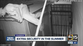 Burglar targets home for sale in Phoenix - Video