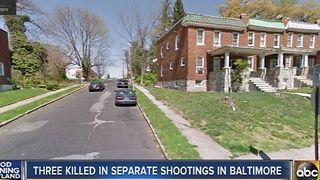 3 killed in separate shootings in Baltimore