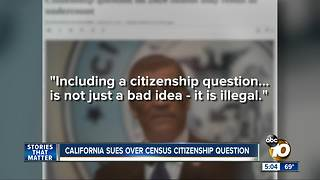 California sues over census citizenship question - Video