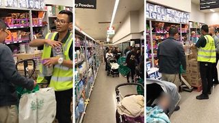 'Crazed shoppers' filmed in bizarre supermarket baby formula frenzy