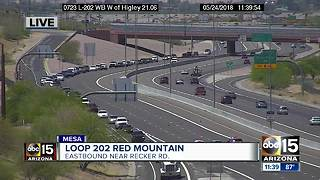 Serious crash closes Loop 202 near Recker - Video