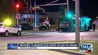 Mother, 11-month-old girl killed in overnight car accident in Milwaukee
