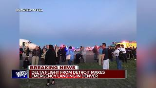 Flight from Detroit to Denver evacuated after smoke reported onboard - Video