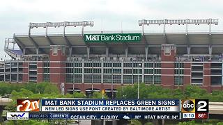 M&T Bank Stadium signs replaced - Video