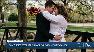 Owasso Couple Holds Drive-in Wedding