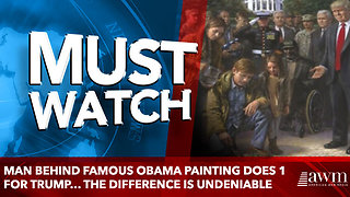 Man Behind Famous Obama Painting Does 1 for Trump… The Difference Is Undeniable - Video