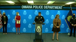 Local officials hold press conference in response to Saturday protests