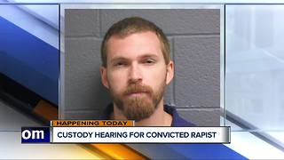 Joint custody hearing today for Michigan man convicted of rape - Video